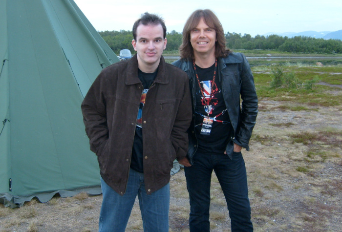 Stein-Vidar and Joey Tempest in Lakselv 2008